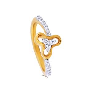 Dahlia Yellow Gold Diamond Ring
