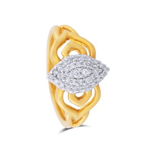 Dayana Yellow Gold Diamond Ring
