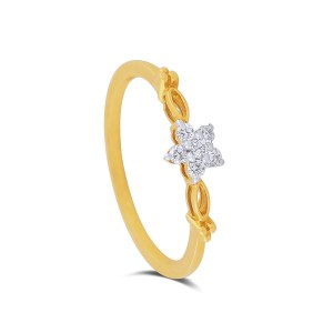 Della Yellow Gold Diamond Ring