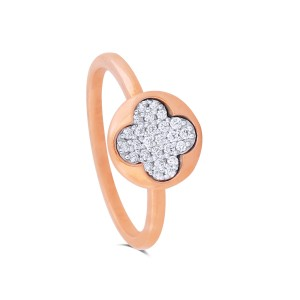 Dina Rose Gold Diamond Ring