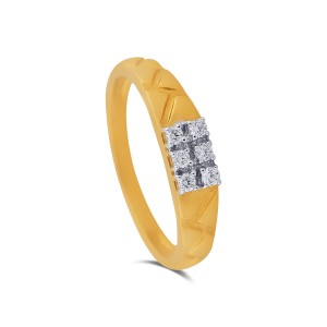 Samson Men's Yellow Gold Diamond Ring