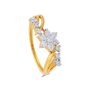 Dayanara Yellow Gold Diamond Ring