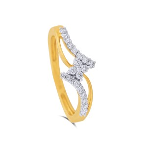 Delila Yellow Gold Diamond Ring