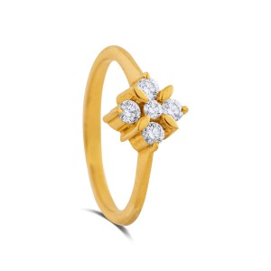 Dasha Yellow Gold Diamond Ring