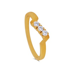 Evelyn Yellow Gold Diamond Ring