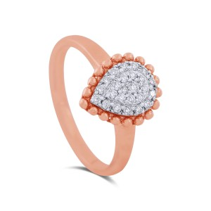 Erika Teardrop Rose Gold Diamond Ring