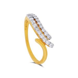 Elayna Yellow Gold Diamond Ring