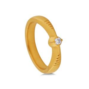 Ketki Yellow Gold Diamond Ring