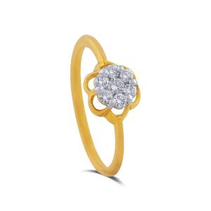 Amrutha Yellow Gold Diamond Ring