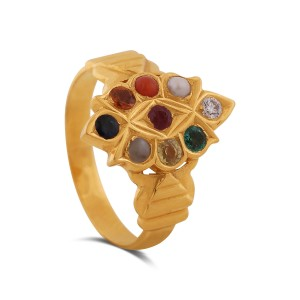 Arjun Men's Yellow Gold Diamond Ring