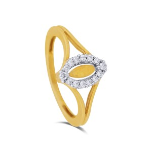 Tacey Yellow Gold Diamond Ring