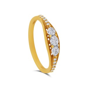 Agnes Yellow Gold Diamond Ring
