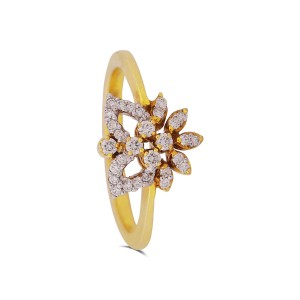 Taisha Yellow Gold Diamond Ring