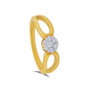 Teirra Yellow Gold Diamond Ring