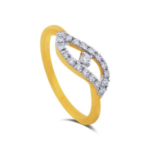 Terese Yellow Gold Diamond Ring