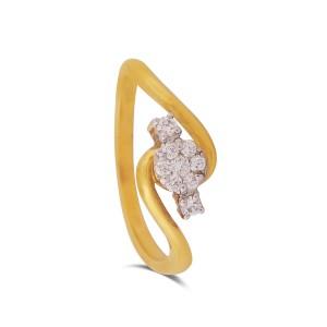 Tilia Yellow Gold Diamond Ring