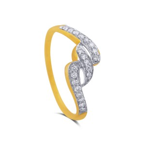 Tisha Yellow Gold Diamond Ring