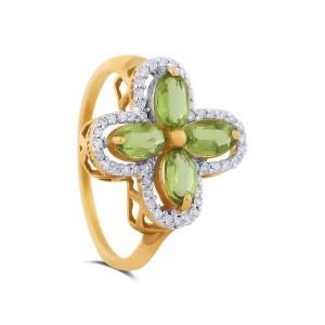Iris Yellow Gold Diamond Ring