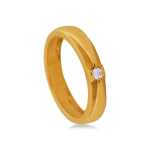 Nanda Diamond & Yellow Gold Ring