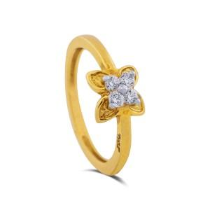 Miraya Diamond & Yellow Gold Ring
