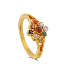 Jocelyn Yellow Gold Diamond Ring