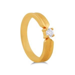 Tovah Yellow Gold Diamond Ring