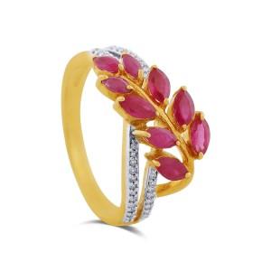 Melody Yellow Gold Diamond Ring