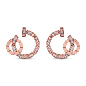 Savanna Diamond & Rose Gold Earrings