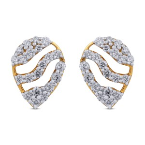 Riley Yellow Gold Diamond Stud Earrings
