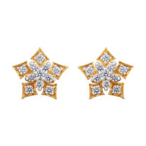 Hannah Yellow Gold Diamond Stud Earrings