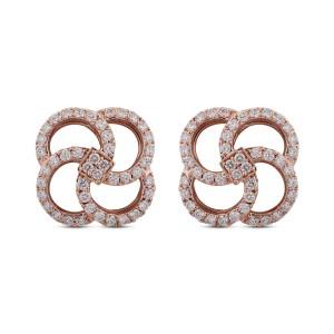 Nysa Diamond & Rose Gold Earrings