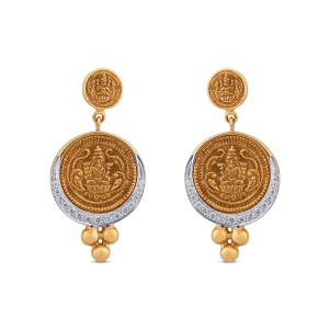 Parvathy Yellow Gold Diamond Drop Earrings