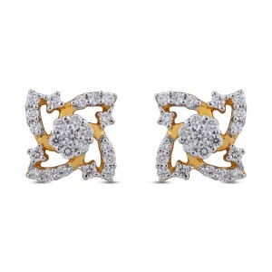 Dianne Diamond & Yellow Gold Earrings