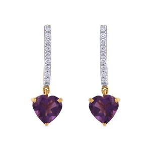 Stella Diamond & Amethyst Dangler Earrings
