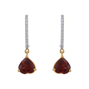 Alexa Diamond & Garnet Dangler Earrings