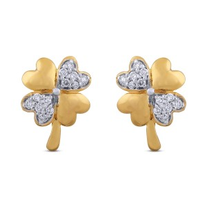 Leia Diamond & Yellow Gold Earrings