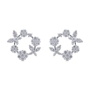 Malaika Diamond & White Gold Earrings