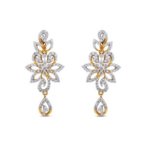 Samantha Yellow Gold Diamond Drop Earrings