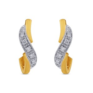 Lara Diamond & Yellow Gold Earrings