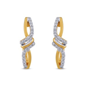 Zarine Diamond & Yellow Gold Earrings