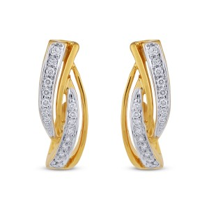 Chloe Diamond & Yellow Gold Earrings