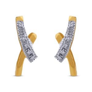 Fara Diamond & Yellow Gold Earrings