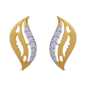 Maryam Diamond & Yellow Gold Earrings