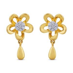 Candace Diamond & Yellow Gold Earrings