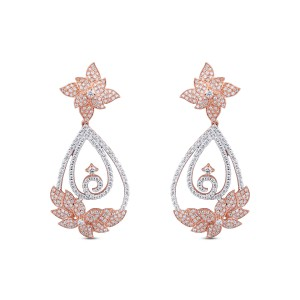 Josephine Rose Gold Diamond Drop Earrings
