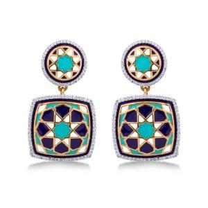 Maria Yellow Gold Diamond Drop Earrings