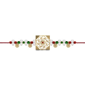 Sibling Love Gemstone Rakhi Set