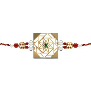 Timeless Bond Gemstone Rakhi Set