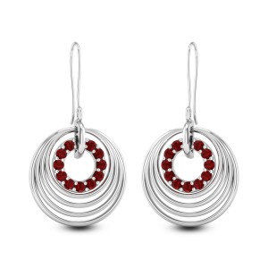 Circula Ruby Hanging Earrings