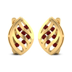 Lattice Ruby Stud Earrings